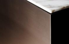 keukenblok staal met marmer